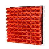 84 tlg Wandregal Lagerregal Stapelbox Gr.2 orange Regal Platten Werkstatt