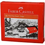 Faber-Castell Dust-Free Erasers - Large, Pack of 20 (White)