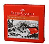 #8: Faber-Castell Dust-Free Erasers - Large, Pack of 20 (White)