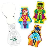 Baker Ross Cuadernos de Notas de superhéroes (Paquete de 8) para Que los niños escriban