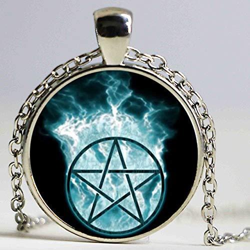 DADATU Halsketten für Herren Handgemachte Magische Kreis Raum Mond Stern Ouija Wicca Gypsy Pentagramm Hexe Anime Steampunk Statement - Jungen Kostüm Gypsy