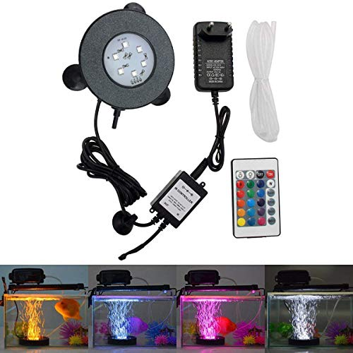 GreenSun LED Lighting Aquarium Licht 3W Unterwasserlicht 6 Leds Unterwasserleuchte RGB Spot Lampe Aquarium LED Beleuchtung Aquariumbeleuchtung