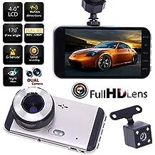 Rrimin 1080P Car DVR Dual Lens Camera Video Recorder Rearview Dash Cam G-sensor