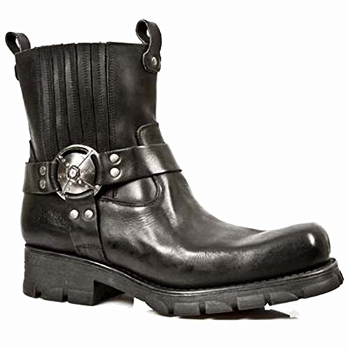 Black s1 New Motorradstiefel Rock Herren 7605 Xqwx6FB