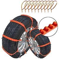 Plextone - Correas antideslizantes para llantas de emergencia universal para conducción en invierno, nieve y arena, resistentes al desgaste