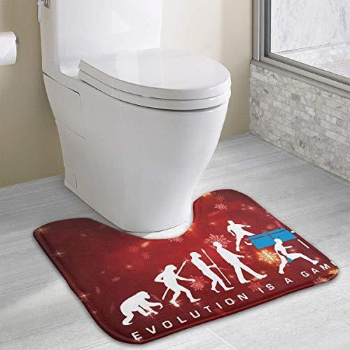 Hoklcvd Evolution ist EIN Tischtennisspiel U-förmige Toilette Boden Teppich Rutschfeste Toilette Teppiche Badezimmer Teppich
