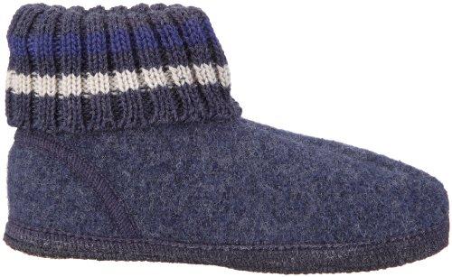 Haflinger Paul Hüttenschuh Paul, Chaussons mixte adulte - Blau (jeans 72)