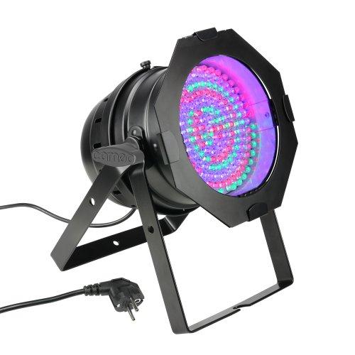 Cameo Light CLP64RGB10BS 183 x 10mm LED RGB PAR Scheinwerfer in schwarzem Gehäuse - Cameo Lampe