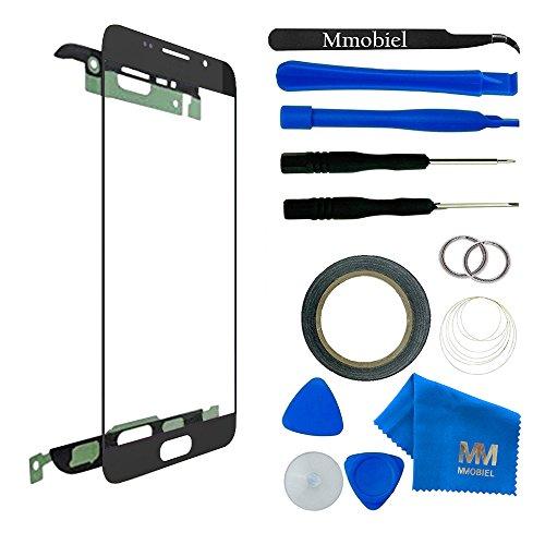 Kit de remplacement d'écran tactile pour Samsung Galaxy A3 Duos A310 (2016) Noir inclus: Vitre de rechange / Pincette / Ruban adhésif 2mm / Chiffon microfibre / Kit d'outillage spécifique / fil métallique MMOBIEL