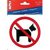 APLI Pictogramme interdit aux chiens 114 x 114 mm