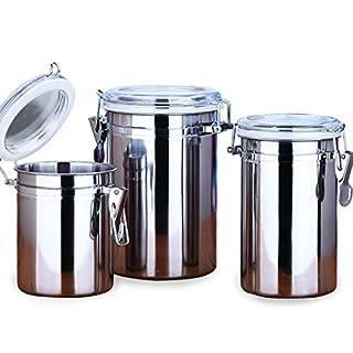 kaffeedosen aevel Kaffeebehälter, Edelstahl, Kaffee-Behälter, hält Kaffee für längere Zeit frisch, ideal für Kaffee / Zucker / Tee / Pasta, mit luftdichtem Deckel, Vakuumversiegelt, Aufbewahrungsbehälter, edelstahl, 1000 ml