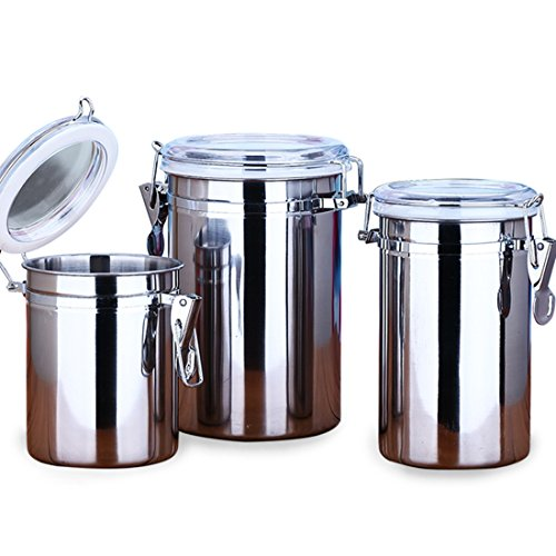 kaffeedosen aevel Kaffeebehälter, Edelstahl, Kaffee-Behälter, hält Kaffee für längere Zeit...