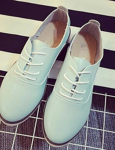 ZQ hug Scarpe Donna - Stringate - Tempo libero / Casual - Comoda - Piatto - Finta pelle - Nero / Blu / Bianco , white-us8 / eu39 / uk6 / cn39 , white-us8 / eu39 / uk6 / cn39 blue-us8 / eu39 / uk6 / cn39