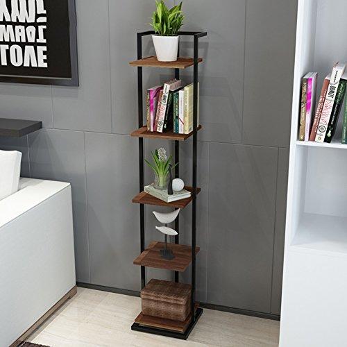 Meiduo Regal Ablage Holz Boden platziert klappbar 150x 30x 30cm sehr langlebig Stil 3 (Kunst & Handwerk Bücherregal)
