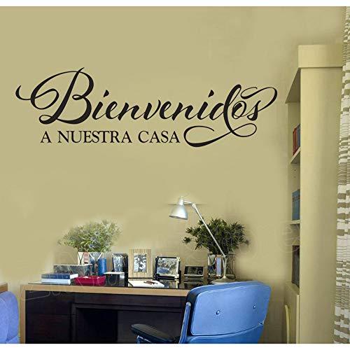 ommen Auf Unserer Startseite Vinyl Wandaufkleber Spanisch Zitat Haustür Eintrag Dekoration Aufkleber Wohnzimmer Home Decor Aufkleber ()