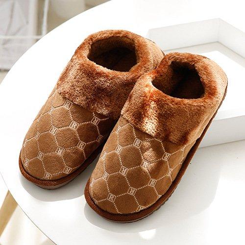 DogHaccd pantofole,In autunno e in inverno la moda R cotone pantofole home pantofole uomini e sul pavimento della folta caldo cotone pantofole Il caffè4