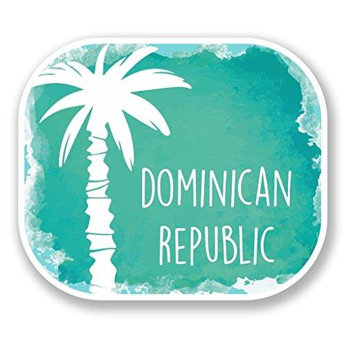 Preisvergleich Produktbild 2 x Dominikanische Republik Vinyl Aufkleber Aufkleber Laptop Reise Gepäck Auto Ipad Schild Fun 6499 - 10cm / 100mm Wide