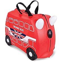 Trunki Boris the Bus - Maleta infantil (Negro, Rojo)