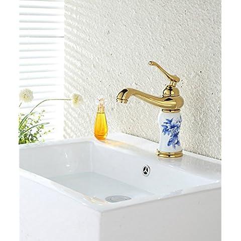 El lujo clásico europeo Jade cobre Titanio Circonio Rose Gold Gold Ceramic grifería Grifería Grifería Grifo lavabo Lavabo Grifo Faucet CSÁSZÁR