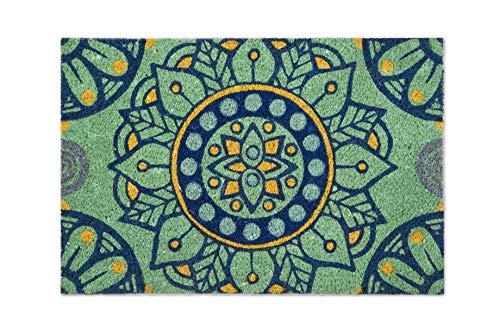 Excelsa Mandala mediterráneo Felpudo Entrada, Fibra de Coco, 40x 60cm