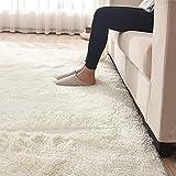 GOMAR 100% Polypropylen Teppich Matte Schlafzimmer SAMT Erkerfenster Pad Wohnzimmer Cremeweiß Teppiche, 80 * 160 cm
