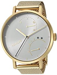 Nixon Women's 'Clutch' Quartz Stainless Steel Casual Watch, Color: Gold-Toned (Model: A1166504-00)