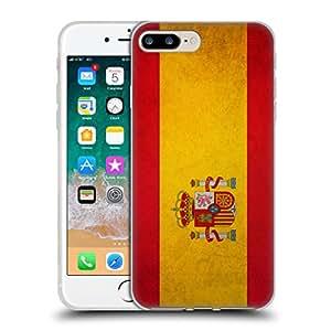 Head Case Designs Espagne Espagnol Drapeaux Vintage Étui Coque en Gel Molle pour iPhone 7 Plus/iPhone 8 Plus