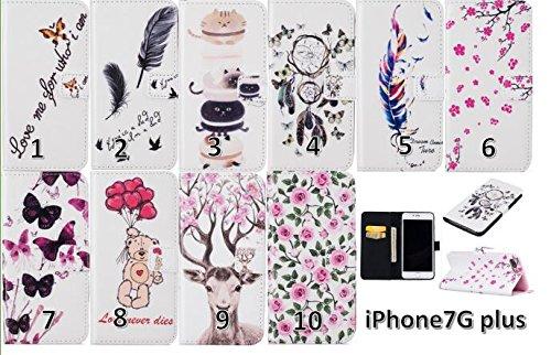 PU Silikon Schutzhülle Handyhülle Painted pc case cover hülle Handy-Fall-Haut Shell Abdeckungen für Apple iPhone 7 Plus (5.5 Zoll) +Staubstecker (1WW) 3