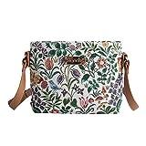 Signare Modische Tapisserie Damen Schultertasche, Bodybag oder Messengertasche Blumen (Frühlingsblume)