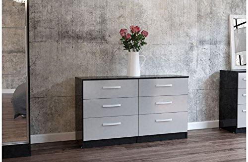 new-wide-6-chest-of-drawers-finished-in-high-gloss-available-in-8-stunning-colours-by-limitless-base
