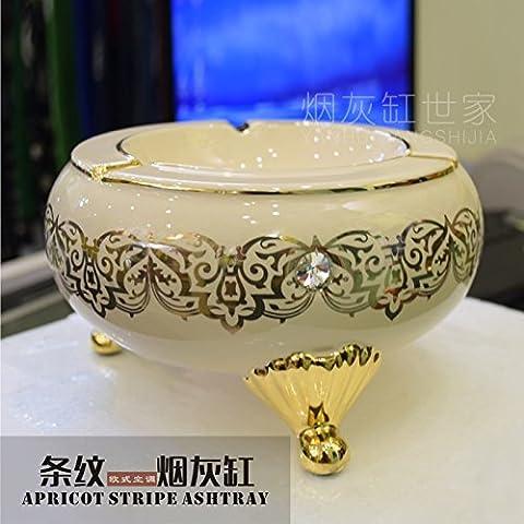 Continental Keramik rauch Antriebe Home Boutique kreative Rauch Zylinder Geschenk Geschenk stilvollen Aschenbecher, apricot