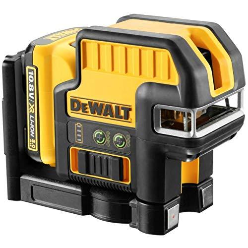 DEWALT DCE0825D1G-QW - Láser autonivelante de 2 líneas en cruz (Horizontal y vertical) y 5 puntos - Incluye batería DW 10,8V Litio - VERDE