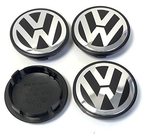 4x Volkswagen 70mm schwarz chrom Logo Emblem Rad gebraucht kaufen  Wird an jeden Ort in Deutschland