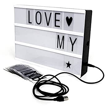 lichter box a4 buchstaben licht led box 5v usb anschluss leuchten ihrem leben filmischen licht. Black Bedroom Furniture Sets. Home Design Ideas