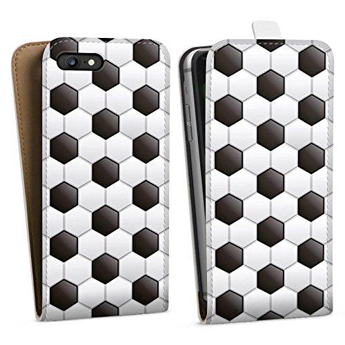 Apple iPhone 4 Silikon Hülle Case Schutzhülle fussball fußball muster Downflip Tasche weiß