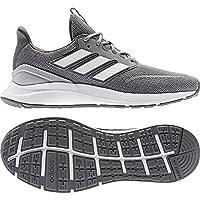 حذاء للجري نايلون شبكي بثلاثة خطوط جانبية مختلفة اللون للرجال من اديداس Energyfalcon - رمادي ثري، 42
