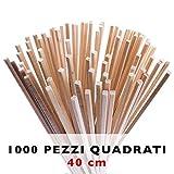 Bastoncini per zucchero filato da 1000Pz 40x0,4 cm