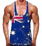 FunkyShirt Australische Flagge Farbige Stringer Weste Gr. Large, weiß