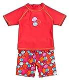 Landora®: Baby- / Kleinkinder-Badebekleidung 2er Set mit UV-Schutz 50+ und Oeko-Tex 100 Zertifizierung in rot; in Größe 74/80