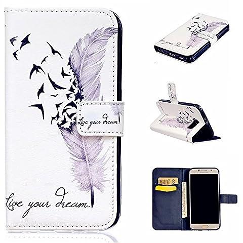 TKSHOP 2et1 Premium Coque Etui Housse pour Samsung Galaxy S6 Case Cover Coleur motif Shell (Viola Nuovo Pennino)