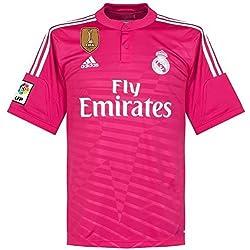 Camiseta alternativa del Real Madrid de 2014 2015, incluye parche de Campeón del Mundo de Clubes.