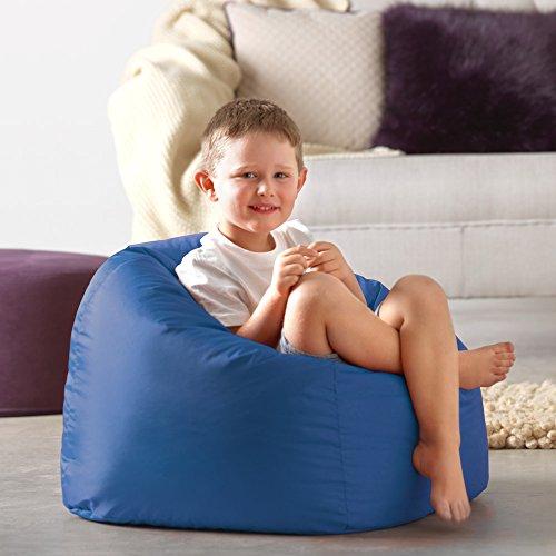 Bean Bag Bazaar Großer Sitzsack für Kinder blau–100% Wasserabweisend Indoor & Outdoor Riesen...