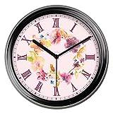 SX-ZZJ $ Wanduhren Wanduhr Nicht tickende Sweep-Bewegung Roman dekorative für Küche Wohnzimmer Badezimmer Schlafzimmer Büro Quarz Uhren & Wecker (Farbe : B, größe : 14inch)