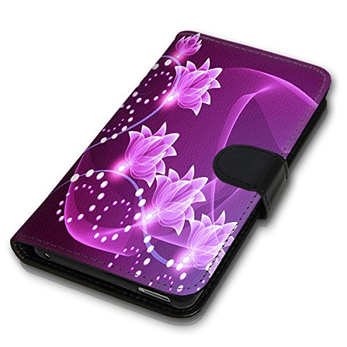 Wallet Book Style Flip Handy Tasche Case Schutz Hülle Schale Motiv Etui für Apple iPhone 5 / 5S - Variante UMV7 Design12 Design 5
