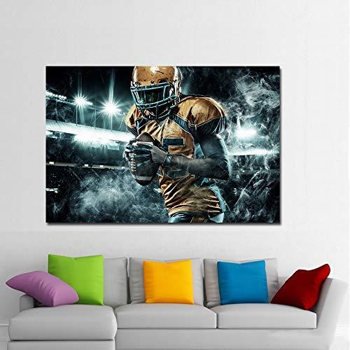 HD Druck American Football Männer Uniform Handschuhe Ball Malerei Poster Drucken Wandbild für Kinderzimmer Dekoration 50x75 cm