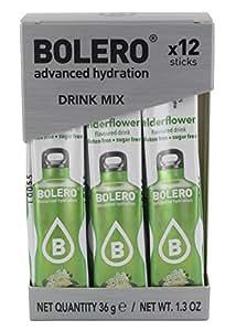 Bolero Functional Food Sticks Elderflower - Pacco da 12 x 3 g