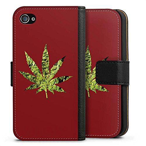 Apple iPhone X Silikon Hülle Case Schutzhülle Hanfblatt THC Marihuana Sideflip Tasche schwarz