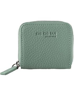 CHI CHI FAN Portemonnaie Mini | Kleine Leder Geldbörse aus genarbtem Rindsleder | Top Qualität und stylish-klares...