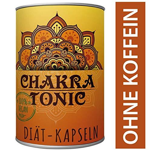 Original Chakra Tonic Hollywood Kapseln Natürliche Diäthilfe Abnehmen ohne Koffein 180 Kapseln Ingwer, Kurkuma, Canehl, Piperin, natürlich Gewicht verlieren