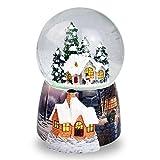 a2e482e7d03 Navidad casa en la nieve bola de cristal caja de música giratorio  automático copo de nieve